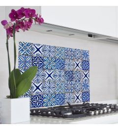 Kitchen Panel Azulejo Blue 65x47cm