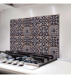 Kitchen Panel Azulejo Black 65x47cm
