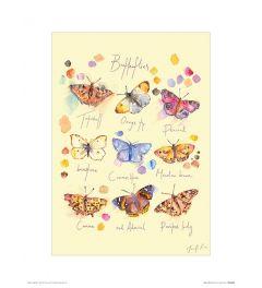 Butterflies Art Print Jennifer Rose 30x40cm