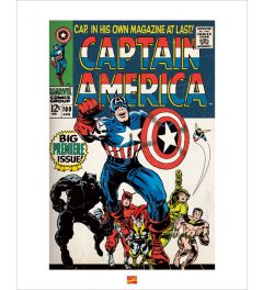 Captain America Art Print 40x50cm