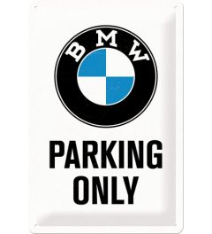 BMW - Parking Only - White