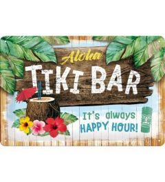 Tiki Bar Metal wall sign 20x30cm