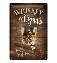 Whiskey Metal wall sign 20x30cm