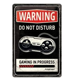 Gaming in progress Metal wall sign 20x30cm