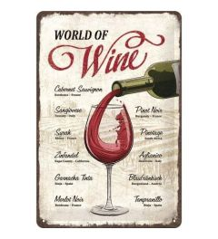 World of Wine Metal wall sign 20x30cm