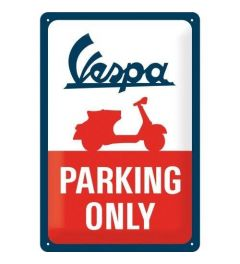 Vespa Parking Only Metal wall sign 20x30cm
