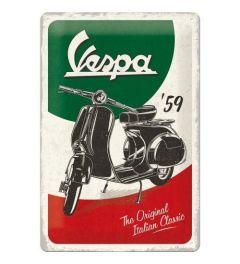 Vespa The Italian Classic Metal wall sign 20x30cm