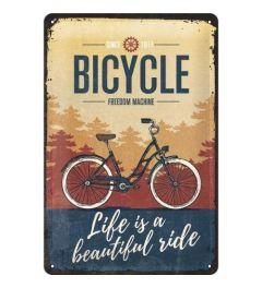 Bicycle Beautiful Ride Metal wall sign 20x30cm