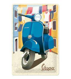 Vespa Italian Laundry Metal wall sign 20x30cm