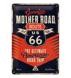 Route 66 The Ultimate Road Trip Metal wall sign 20x30cm