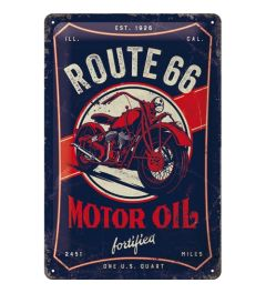 Route 66 Motor Oil Metal wall sign 20x30cm