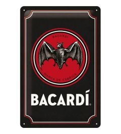 Bacardi Logo Black Metal wall sign 20x30cm