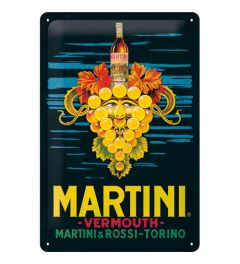 Martini Vermouth Grapes Metal wall sign 20x30cm