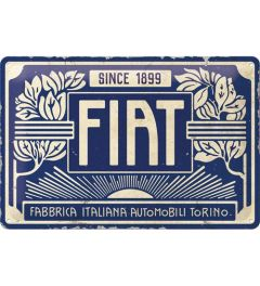 Fiat Since 1899 Logo Blue Metal wall sign 20x30cm