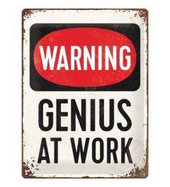 Genius at Work Metal wall sign 30x40cm