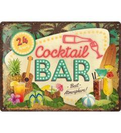 Cocktail Bar Metal wall sign 30x40cm