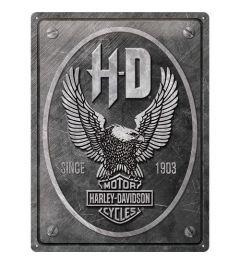 Harley Davidson Metal Eagle Metal wall sign 30x40cm