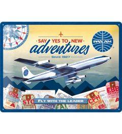 Pan Am New Adventures Metal wall sign 30x40cm