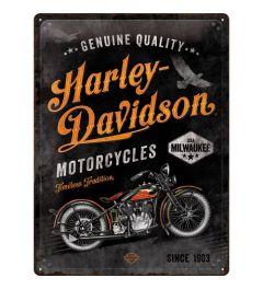 Harley Davidson Timeless Tradition Metal wall sign 30x40cm