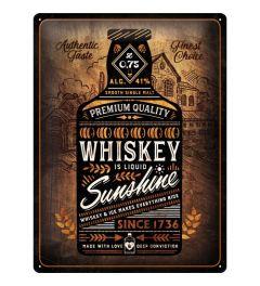 Whiskey Sunshine Metal wall sign 30x40cm