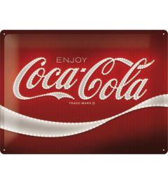 Coca Cola Logo Red Lights Metal wall sign 30x40cm