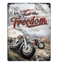 Route 66 Freedom Metal wall sign 30x40cm