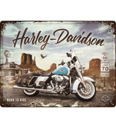 Harley Davidson Route 66 Road King Classic Metal wall sign 30x40cm