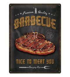 Barbecue Nice To Meat You Metal wall sign 30x40cm