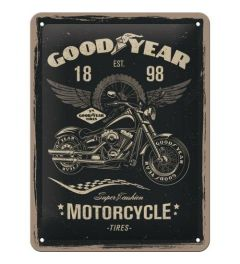 Goodyear Motorcycle Metal wall sign 15x20cm