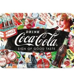 Coca-Cola Collage Metal wall sign 15x20cm