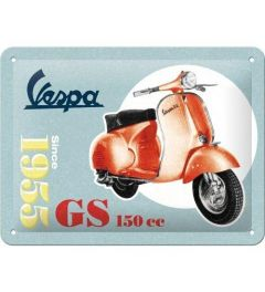 Vespa GS 150 Since 1955 Metal wall sign 15x20cm