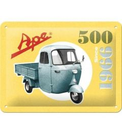 Ape 500 Since 1966 Metal wall sign 15x20cm
