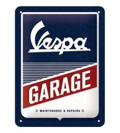 Vespa Garage Metal wall sign 15x20cm