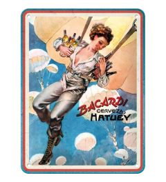 Bacardi Cerveza Hatuey Pin Up Girl Metal wall sign 15x20cm