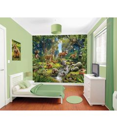 Animal Forest 12-part Wall Mural 305x244cm