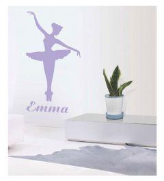 Emma Ballerina - Lila - Muursticker