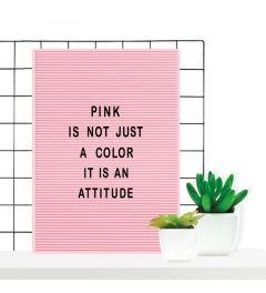 Retro Letter Board 31 x 46 cm Pink