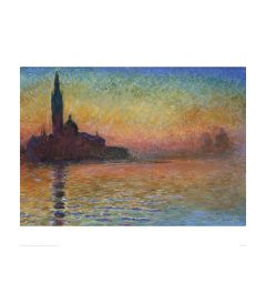 Monet San Giorgio Maggiore By Twil Art print 60x80cm