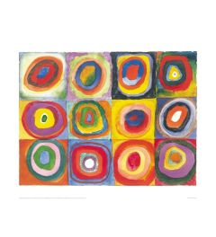 Kandinsky Colour Study with Concentric Circles Art print 60x80cm