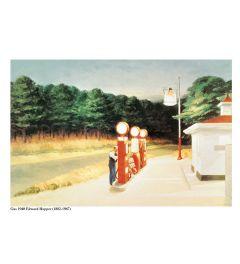 Hopper Gas 1940 Art print 60x80cm