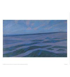 Mondrian Dune landscape Art print 60x80cm
