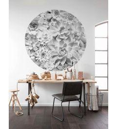 Echeveria Self-adhesive Wallpaper Circle ⌀125cm