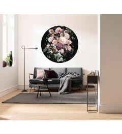 Enchanted Flowers Self-adhesive Wallpaper Circle ⌀125cm