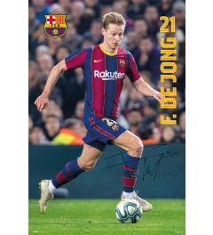 FC Barcelona 2020/2021 De Jong Poster 61x91.5cm