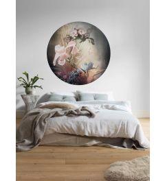 Flemish Flowers Self-adhesive Wallpaper Circle ⌀125cm