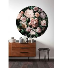 Flower Couture Self-adhesive Wallpaper Circle ⌀125cm