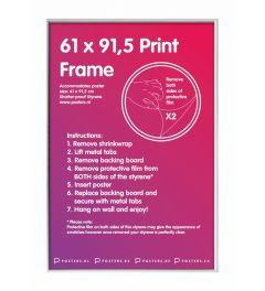 Frame 61x91,5cm White - Plastic