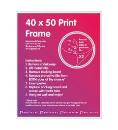 Frame 40x50cm White - Plastic