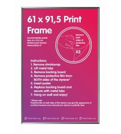 Frame 61x91,5 cm Silver - Plastic