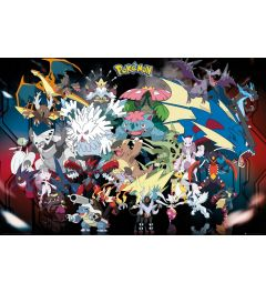 Pokemon Mega Evolutions Poster 91.5x61cm